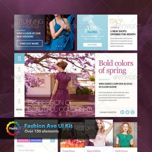 Fashion Ave UI Kit