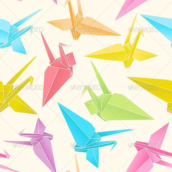 500 Origami Crane Orange 3