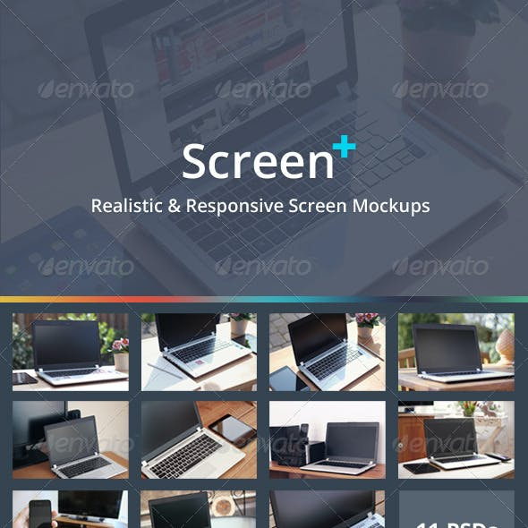 ScreenPlus - Realistic & Responsive Screen Mockups
