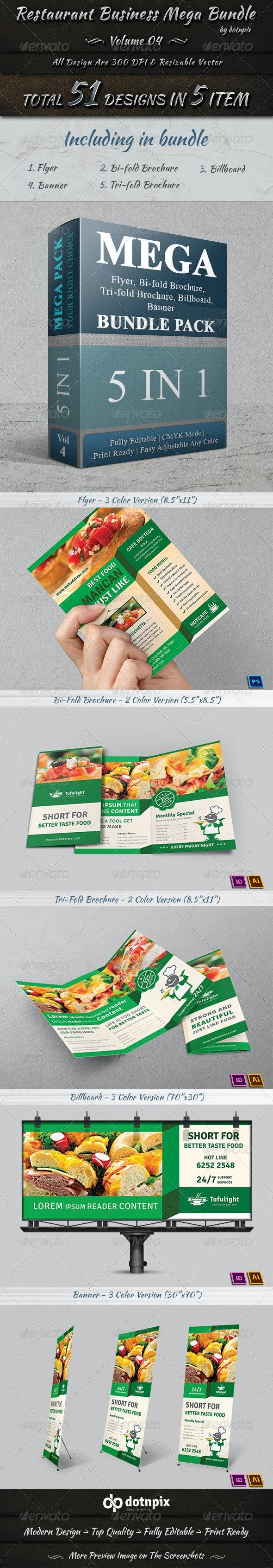 Restaurant Business Mega Bundle | Volume 4 - Stationery Print Templates