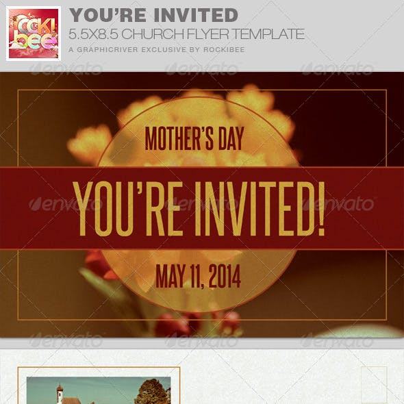 You're Invited Church Flyer Invite Template