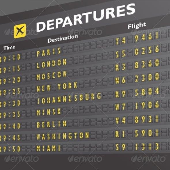 Airport Board Print