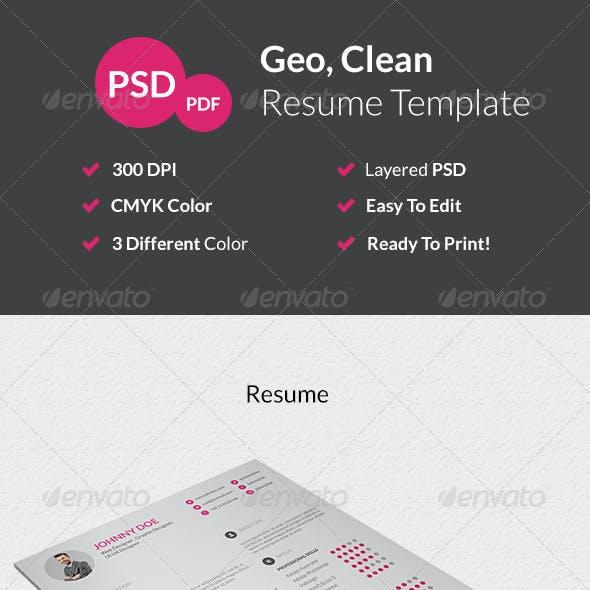 Geo Clean Resume