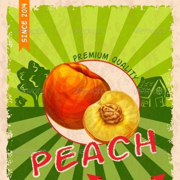 Peach Retro Poster