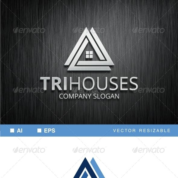 Trihouses Logo Template