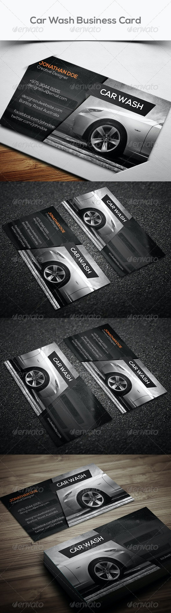 Car Wash Business Card - Corporate Business Cards