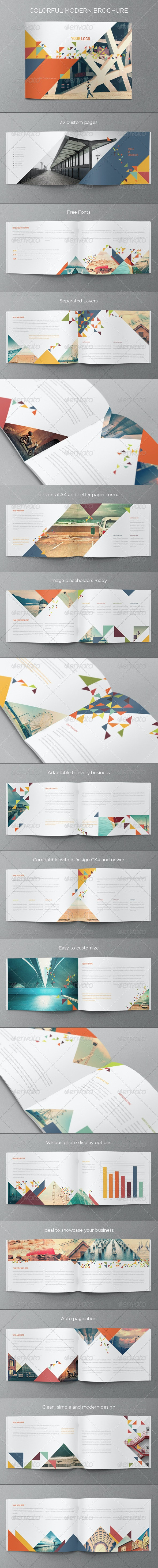 Colorful Modern Brochure - Brochures Print Templates