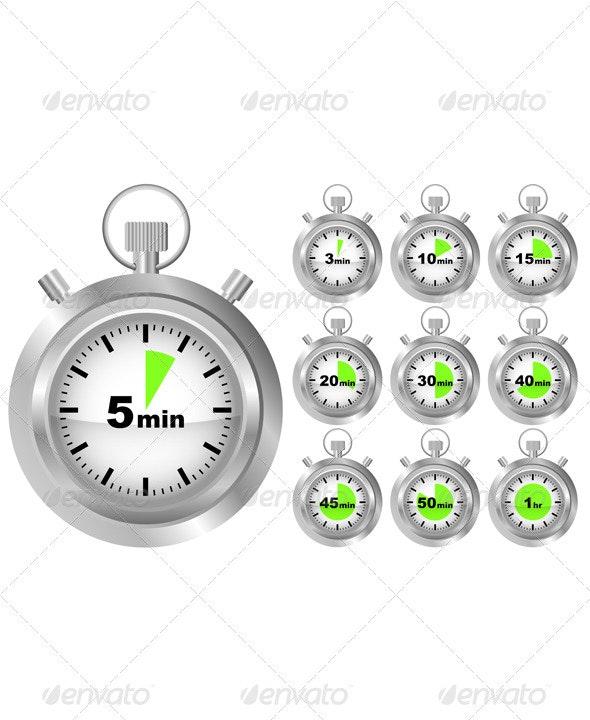 Stopwatch Timer - Miscellaneous Vectors