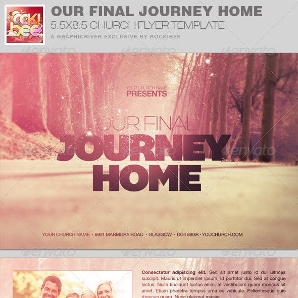 Final Journey Home Church Flyer Invite Template