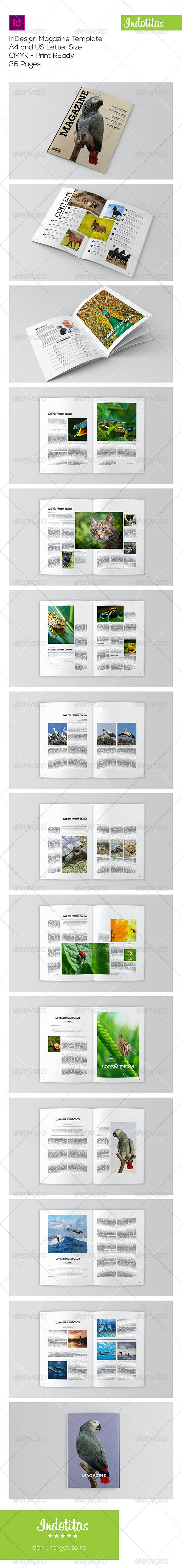 Animal Magazine Template - Magazines Print Templates