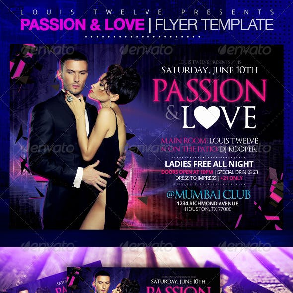 Passion and Love | Horizontal Flyer