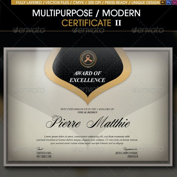 Multipurpose Modern Certificate v.2 (All Formats)