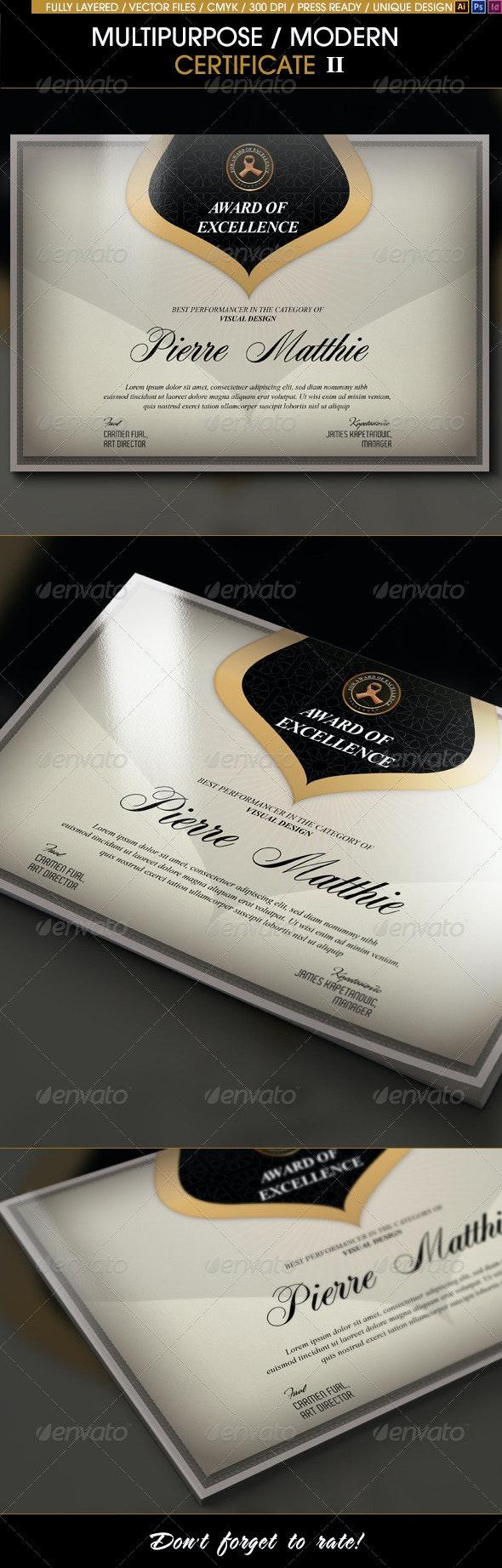 Multipurpose Modern Certificate v.2 (All Formats) - Certificates Stationery