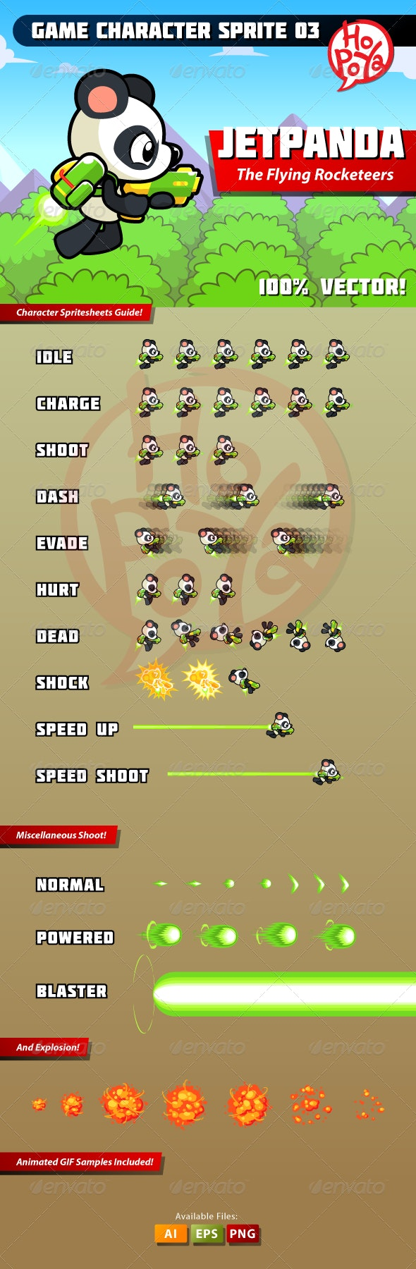 Game Character Sprite 03 - Animals Characters