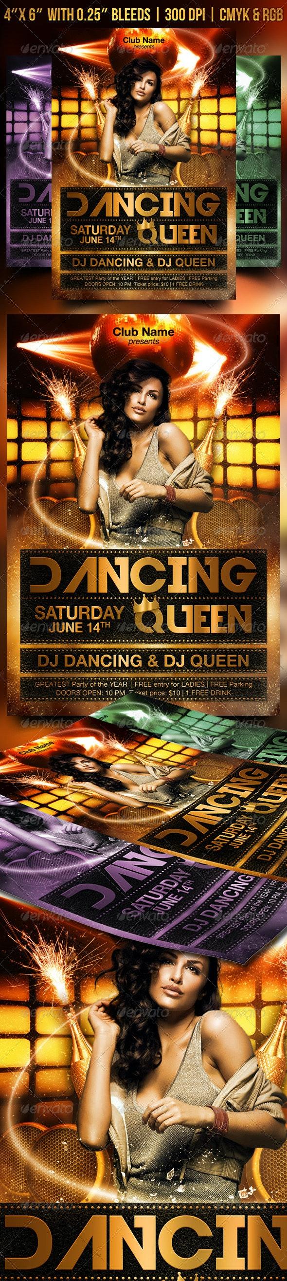 Dancing Queen Flyer - Clubs & Parties Events