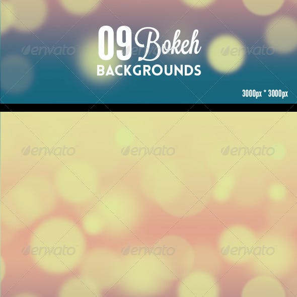 09 Bokeh Backgrounds Hd Bundle
