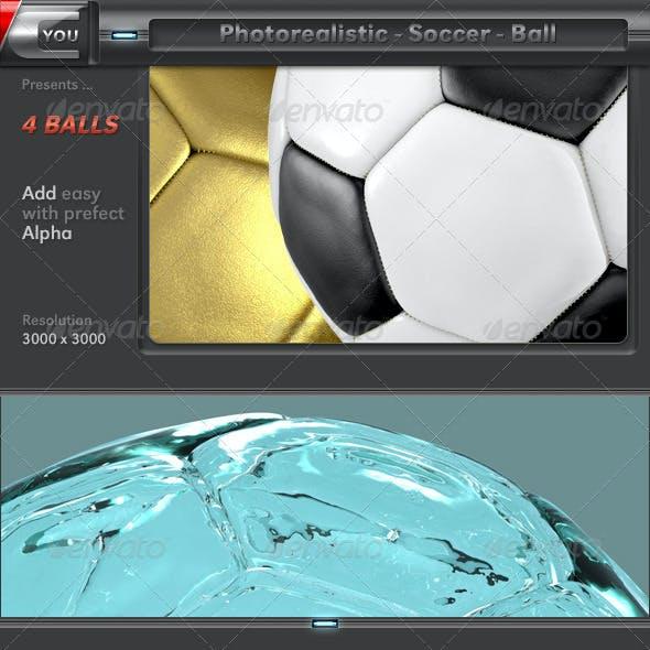 3D Photorealistic Soccer Ball Set