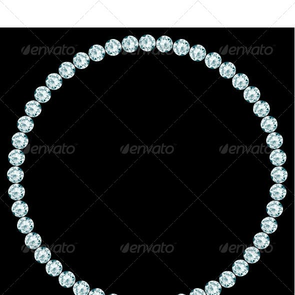 Round Frame Made of Diamonds