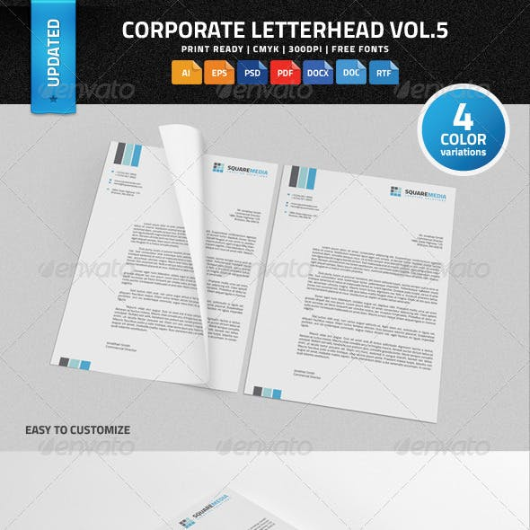Corporate Letterhead vol.5 with MS Word DOC/DOCX