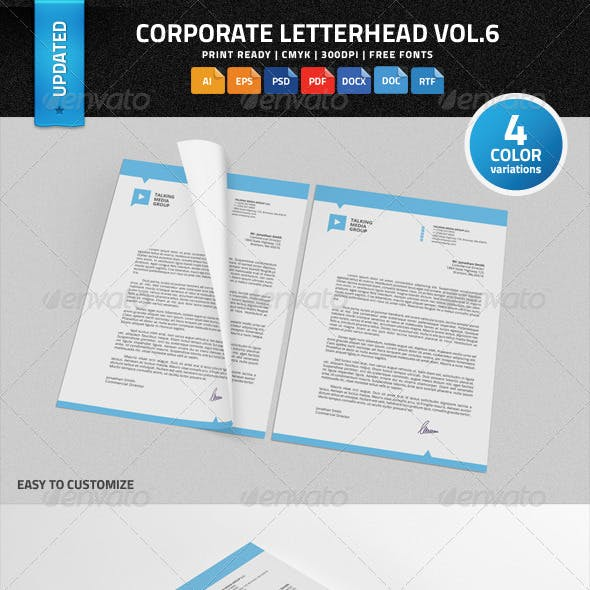 Corporate Letterhead vol.6 with MS Word DOC/DOCX