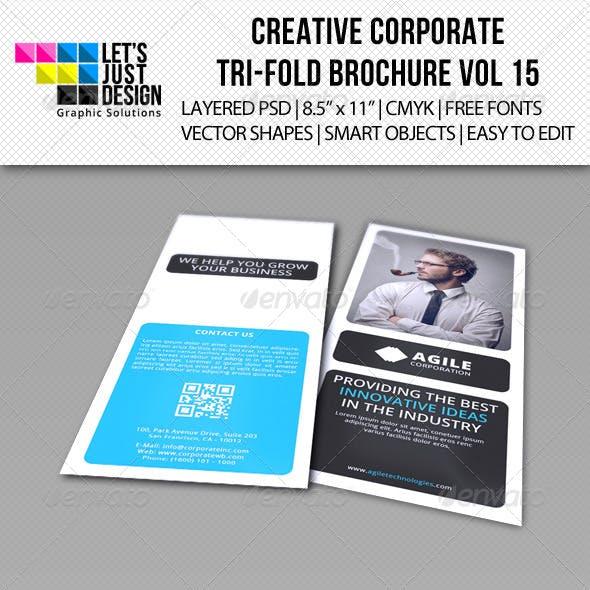 Creative Corporate Tri-Fold Brochure Vol 15