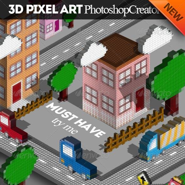 3D Pixel Art Photoshop Creator