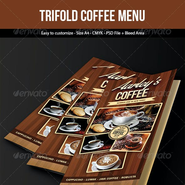 Coffee Menu (Trifold)