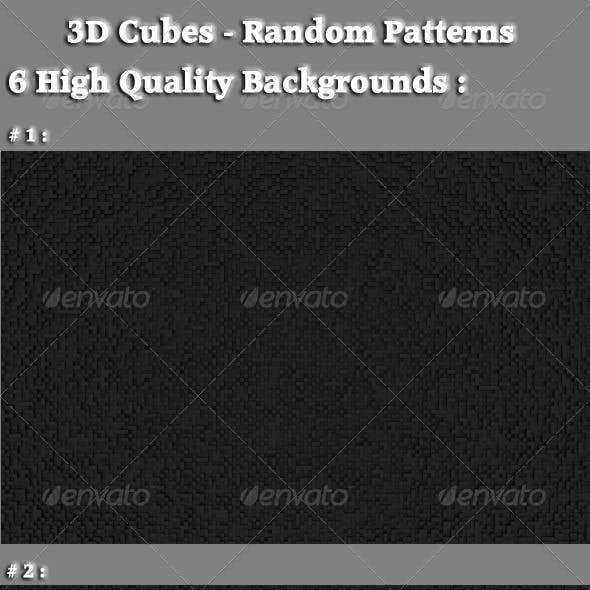 3D Cubes - Random Patterns
