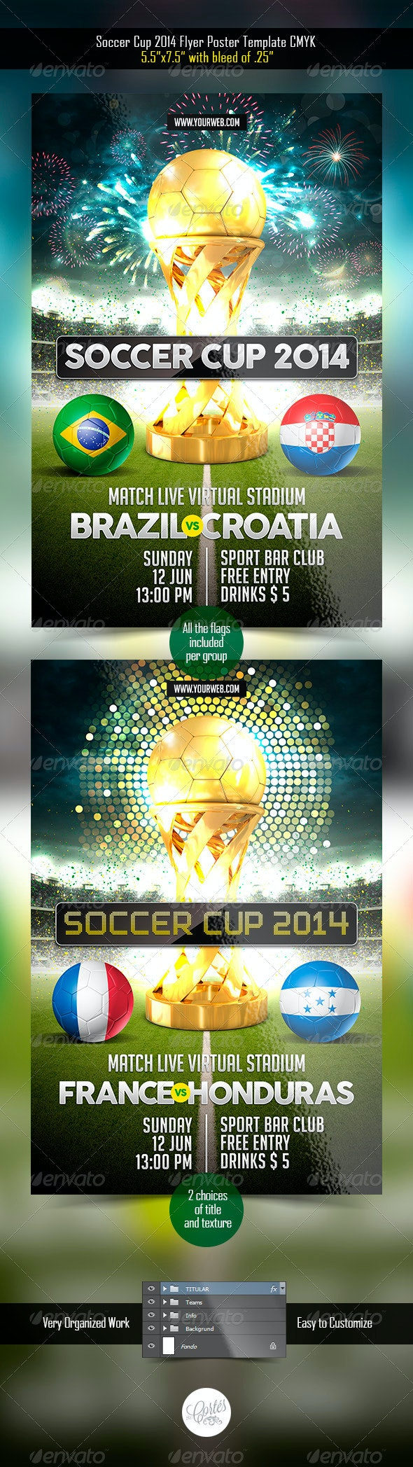 Soccer Cup 2014 Flyer - Sports Events
