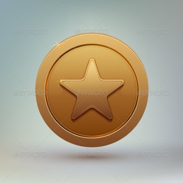 Coin with Star