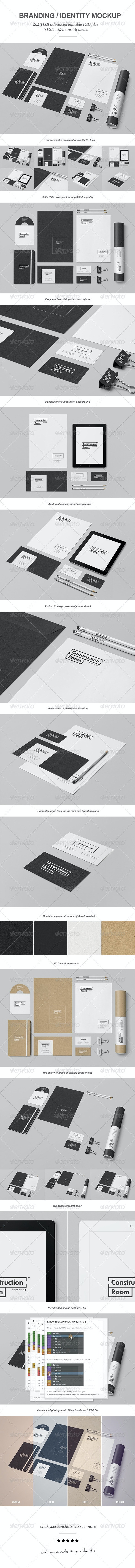 Branding / Identity Mock-up 5 - Stationery Print