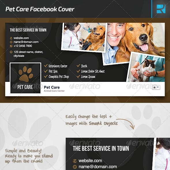 Pet Care Facebook Cover