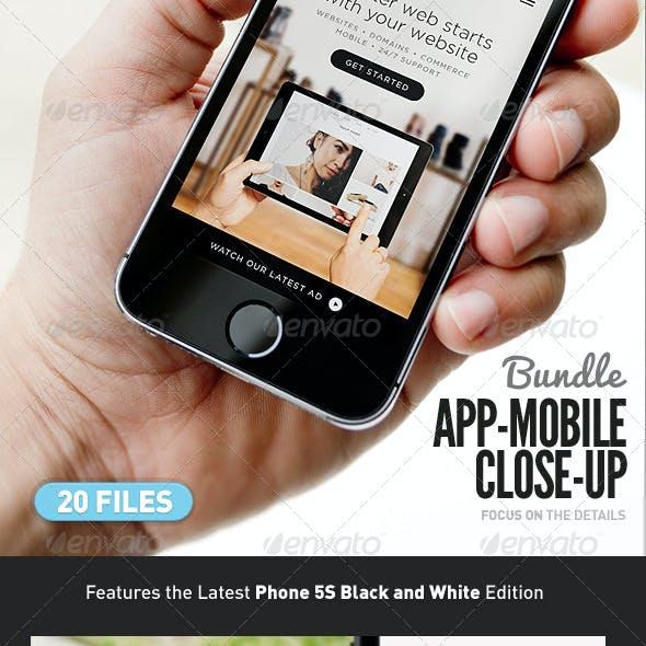 App UI Close-Up Mock-Up 5s Bundle