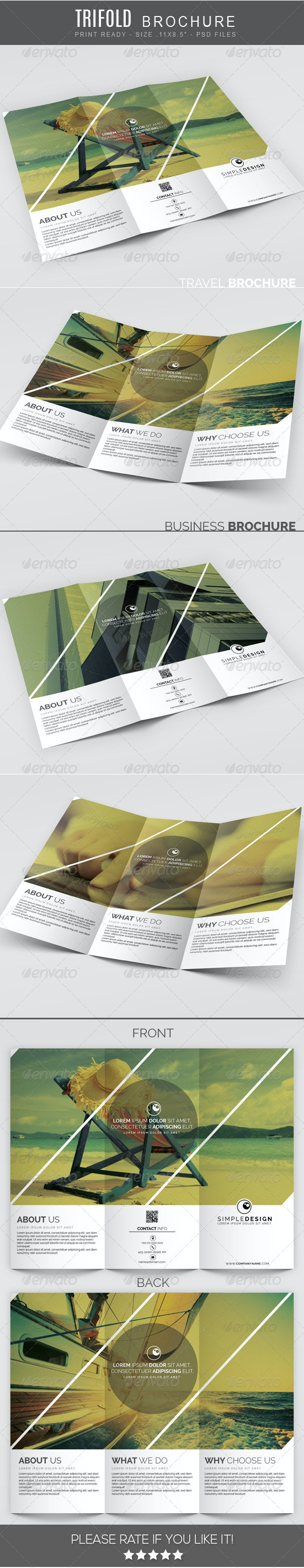 Travel multipurpose Trifold Brochure - Corporate Brochures