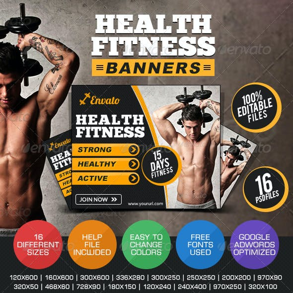 Health & Fitness Banners