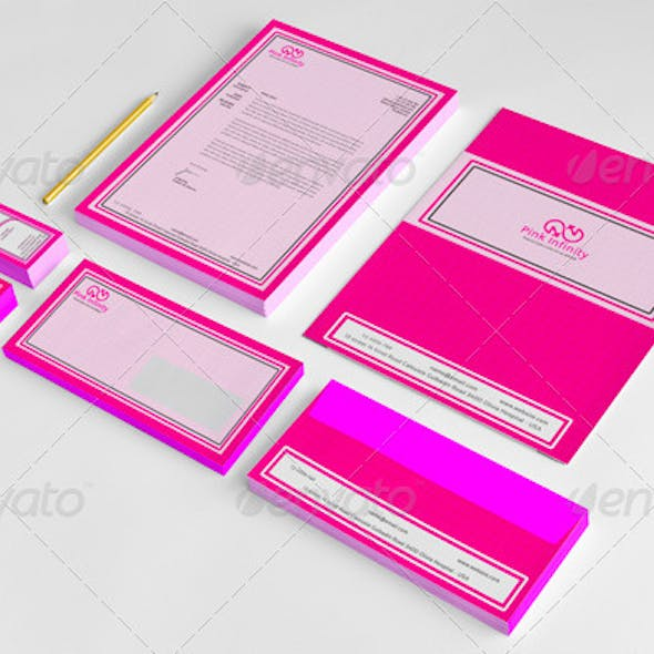 Pink Infinity Salon Stationery