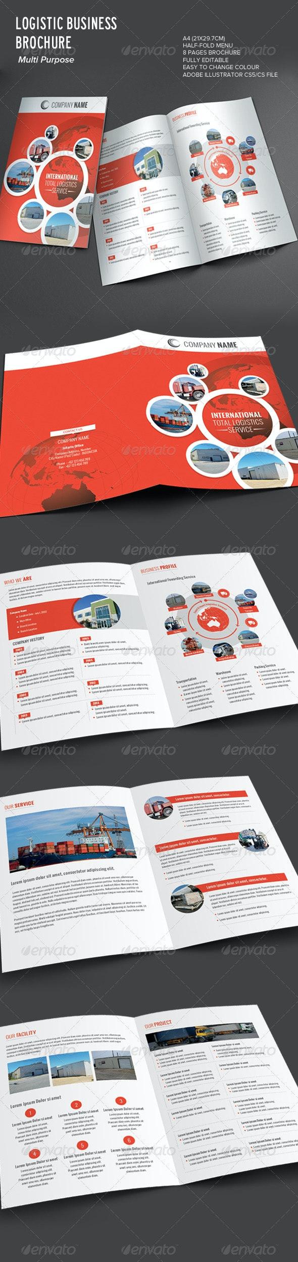 Logistic Business Brochure - Corporate Brochures