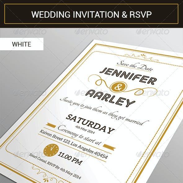 Elegant Wedding Invitation & RSVP