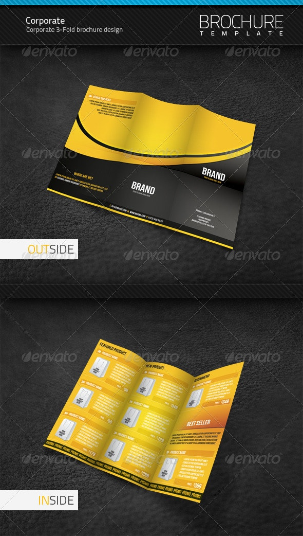 Corporate 3-Fold Brochure Template - Corporate Brochures