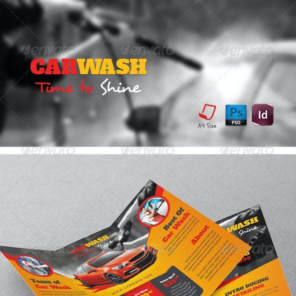 Car Wash Tri-Fold Templates