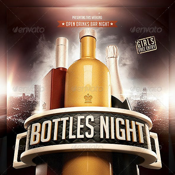 Bottles Night flyer Template