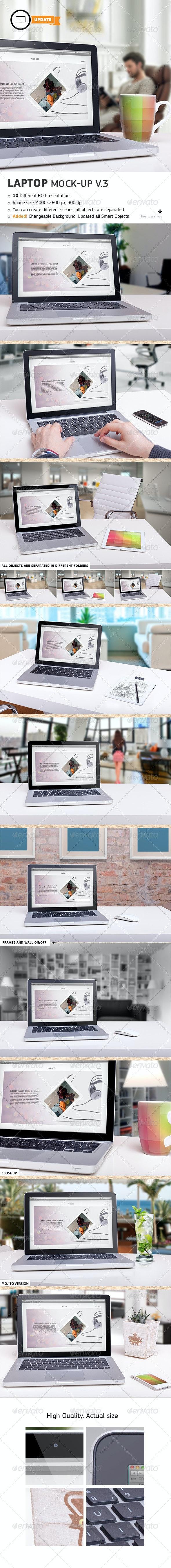 10 Laptop Mock-ups Vol.3 - Laptop Displays