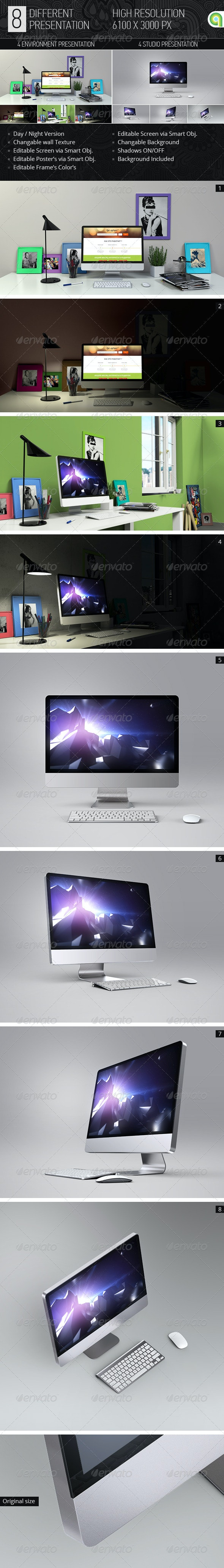 Desktop & Screen Mock-up  - Monitors Displays
