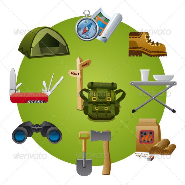 Tourism Equipment Icon