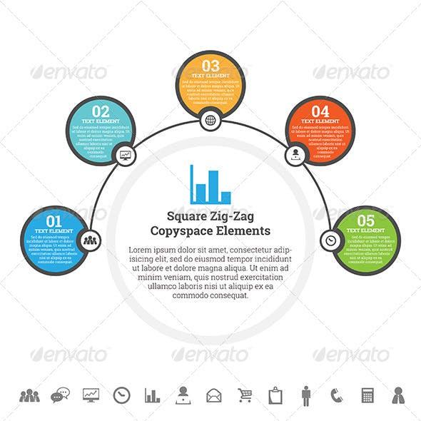 Half Circle Point Infographic