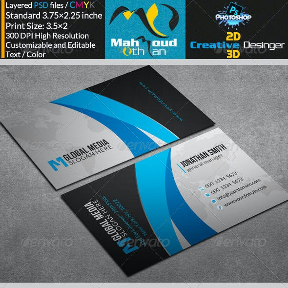 Modern Corporate Business Card V11