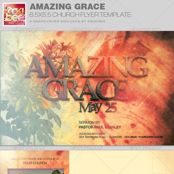 Amazing Grace Church Flyer Invite Template