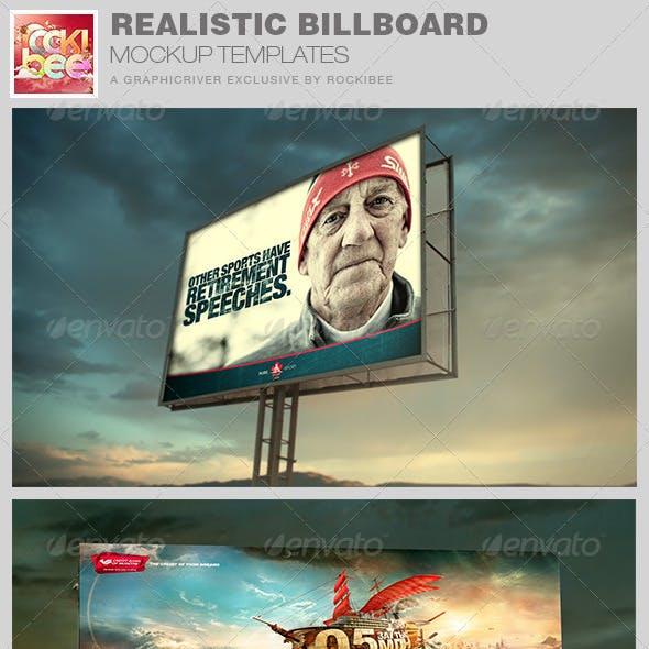 Realistic Billboard Mockup Templates