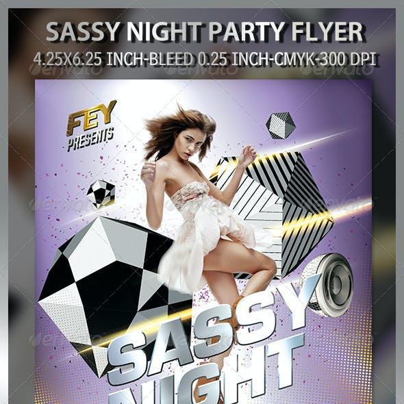 Sassy Night Party Flyer