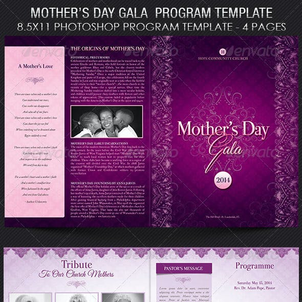 Lavender Mothers Day Gala Program Template